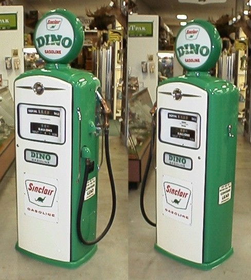 Antique bennett sinclair dino gas pump for sale in black horse ohio
