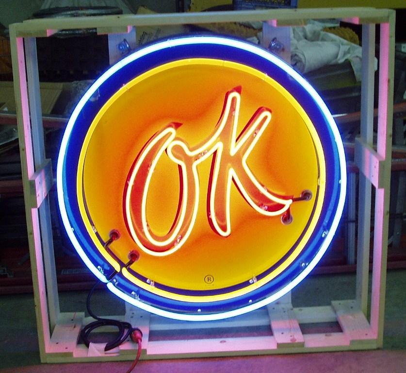 OK Neon Sign