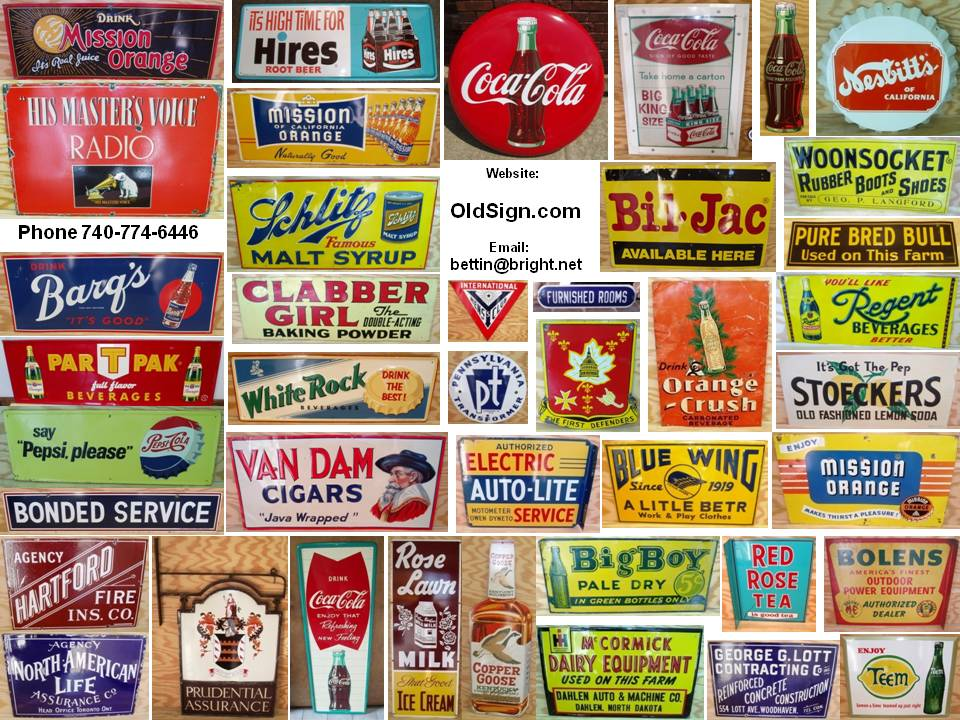 Soda Pop & Drink Signs